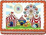 Circus Animals Birthday Edible Cake Topper (8''x 10'' Sheet)