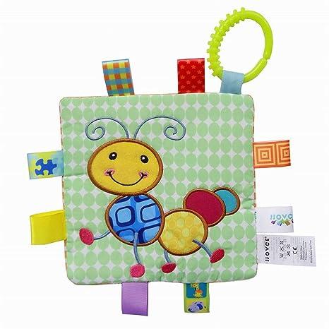 SCRG 1 pieza de suave etiqueta multicolor etiqueta bebé juguete, toalla de gamuza, colorida