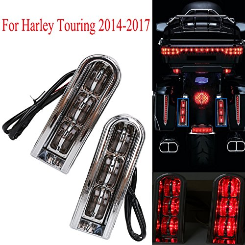 For Harley Touring Saddlebag Accent LED Light Insert Filler Support 2014-2017 (Tail Light Insert Accents)