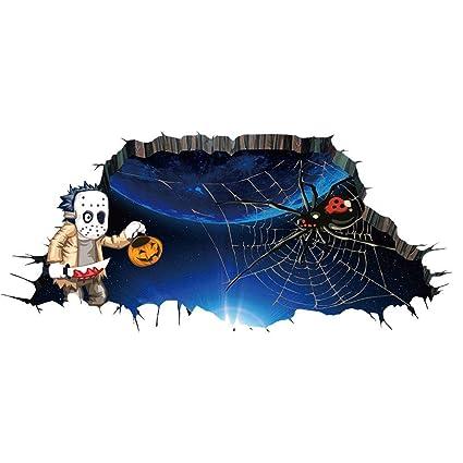 Babysbreath17 Arte de Halloween 3D Impermeable Telaraña engomada ...