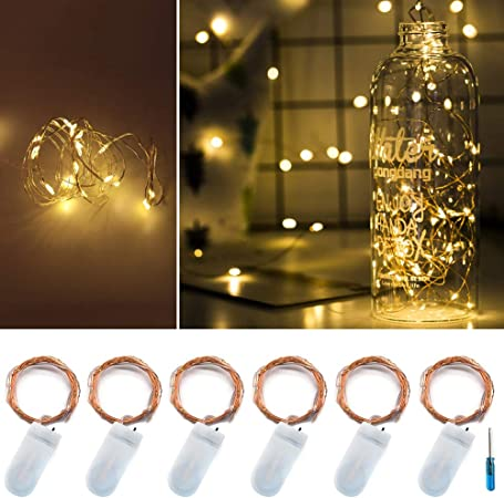 Battery Fairy Lights 20 LED 6.5 Feet//2M Led Micro String Lights Waterproof Copper Wire Starry Light Battery Operated Lights for Indoor Outdoor Home Garden Party Wedding Christmas Decor Beige