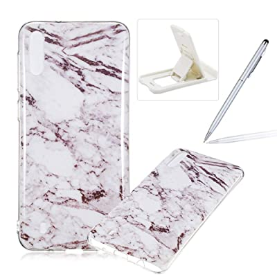 Soft Case for Samsung Galaxy M10,Anti Scratch Cover for Samsung Galaxy M10,Herzzer Stylish Pretty White Marble Stone Pattern TPU Bumper Flexible Shock Scratch Resist Rubber Case: Musical Instruments