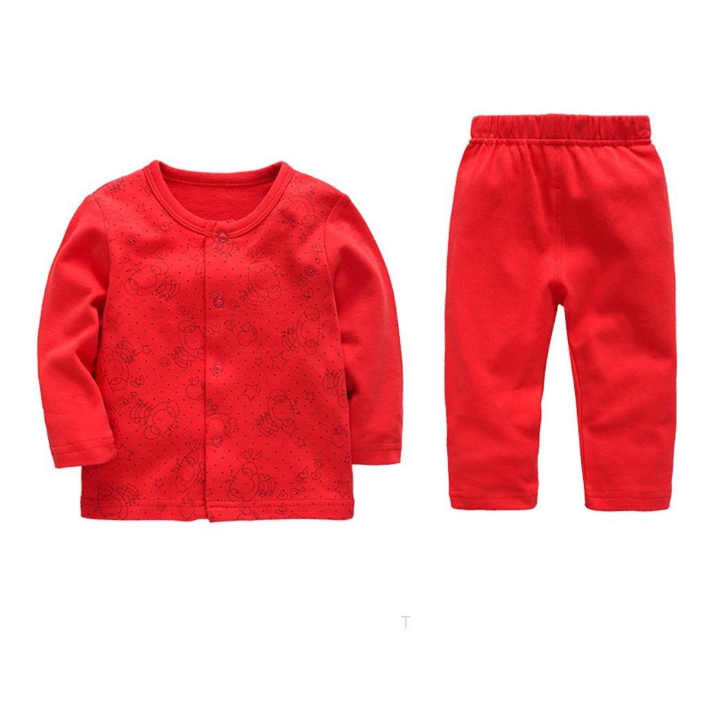 HJXJXJX Neonatal Ropa 0-3 Meses de algodón bebé de un Solo Pecho de Encapuchados de Manga Larga de Primavera y otoño Modelos de Dos Conjuntos, ...