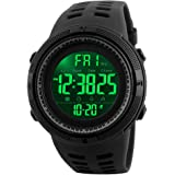 Men's Digital Sports Watch Waterproof Military Alarm with Countdown