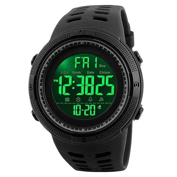 89cdf16ee0b2 SKMEI Men s Digital Watch Large Face Sport Wristwatch Black  SKMEI ...