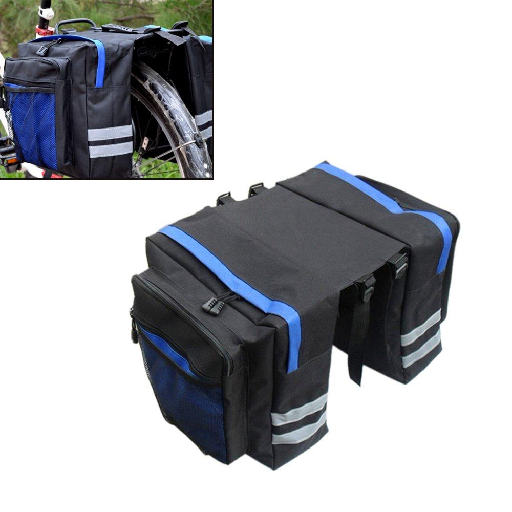 Bike Large Rear Bag Angled Pocket Design Panniers-Adjustable Hooks by Generic   B00UR6DOP0