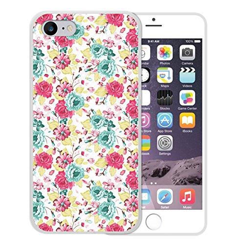 iPhone 8 Hülle, WoowCase Handyhülle Silikon für [ iPhone 8 ] Multifarbige Blumen Handytasche Handy Cover Case Schutzhülle Flexible TPU - Transparent