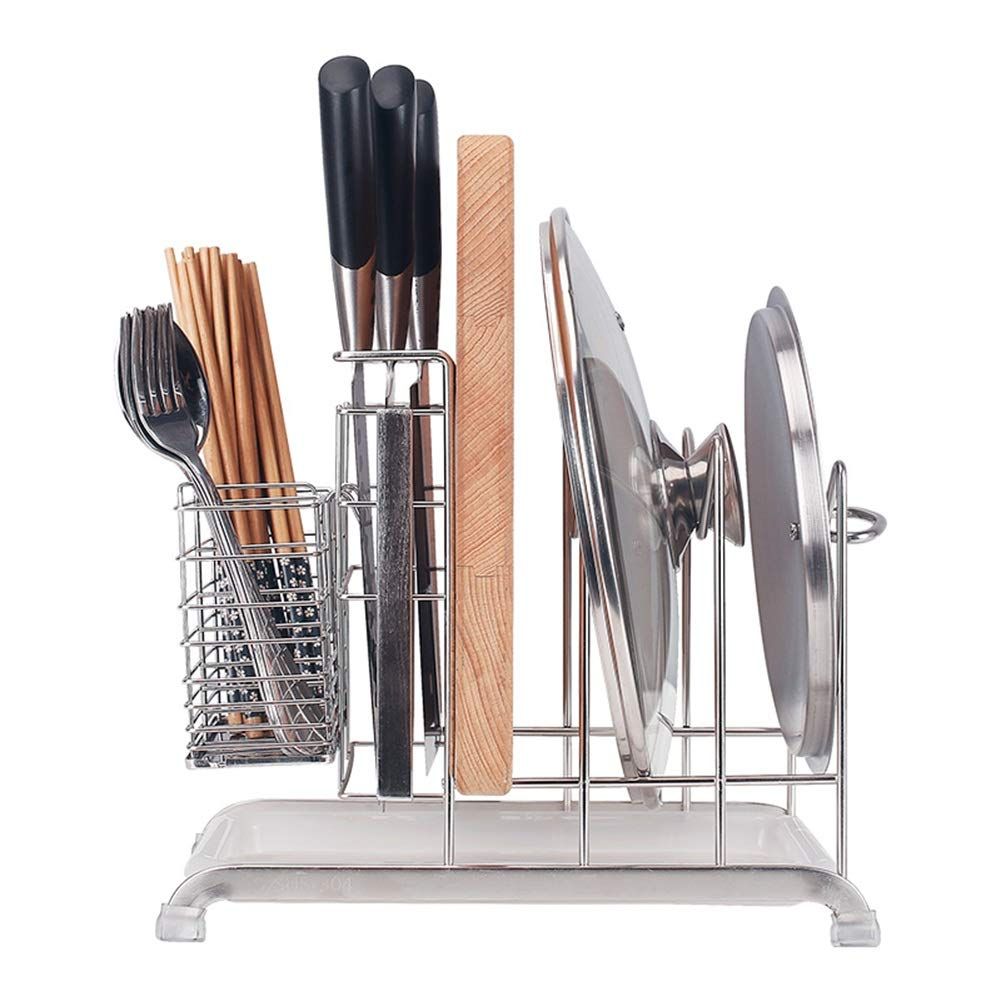 Shelf Storage Racks Pot Rack Storage Basket Shelf Baskets Kitchen Stainless Steel Storage Rack Tool Chopping Rack Cutlery Multifunction 2917.525cm ZHAOYONGLI by ZHAOYONGLI-shounajia (Image #1)