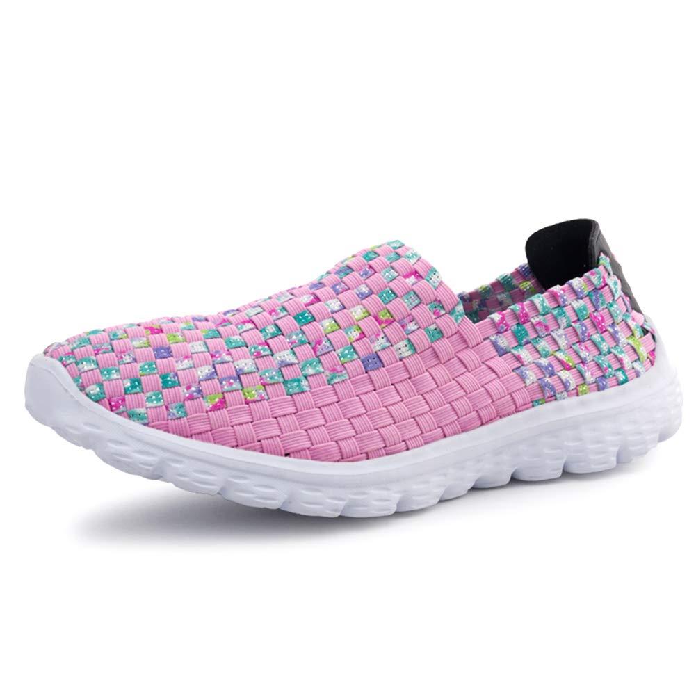 Femmes Slip on Mocassins Tress/é Respirante Casual Flats Lightweight /élastique Formateurs Sport Chaussures deau