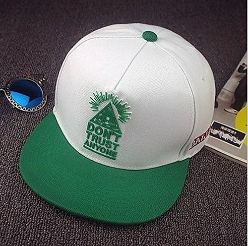 [Blazers Proforms Costumes Fashion Unisex Snapback adjustable Baseball Cap Mens Hip Hop hat Green and White - Don't Trust] (In Stock Hip Hop Costumes)