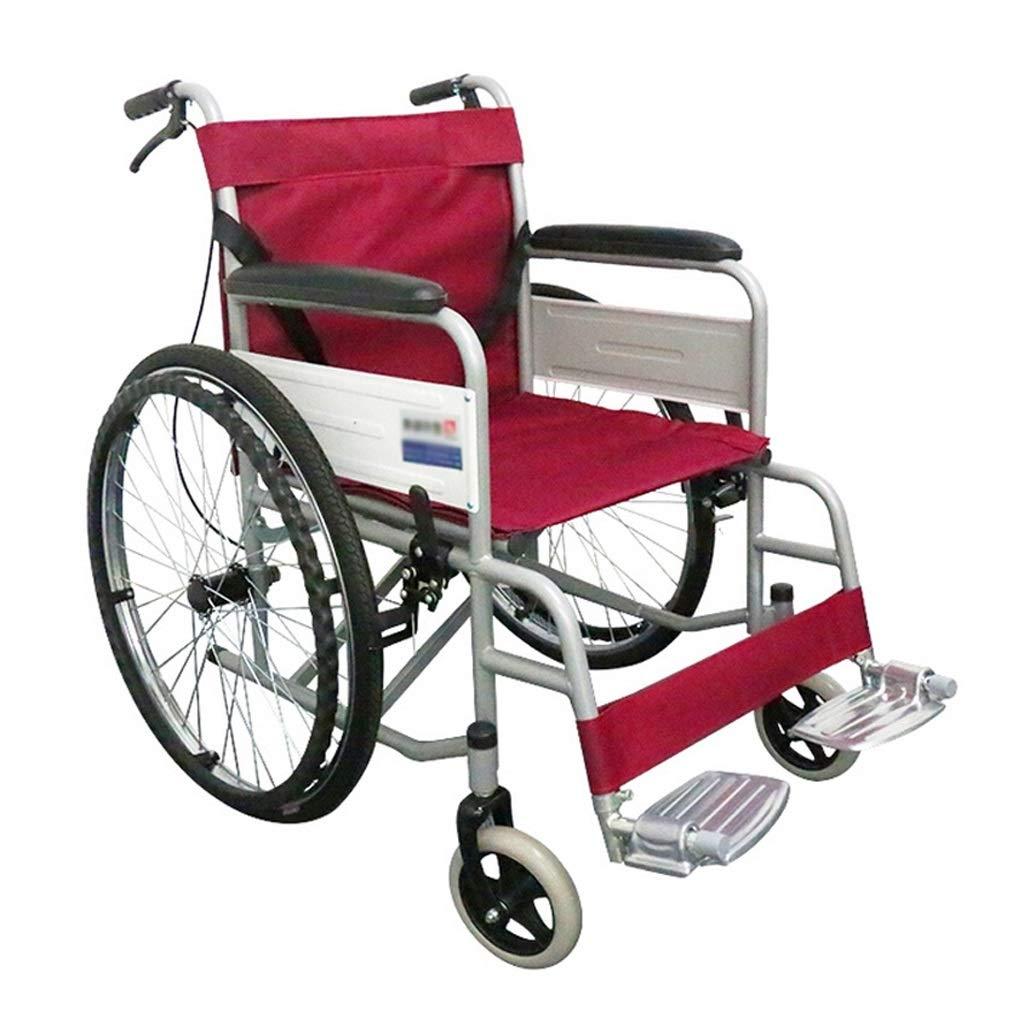 ベストセラー 折りたたみ車椅子 - ハンドブレーキ付き携帯用軽量高齢者用車椅子 B07P2D9L7M (色 (色 : 赤) 赤 赤 B07P2D9L7M, 美Sante Shop:d4367367 --- a0267596.xsph.ru