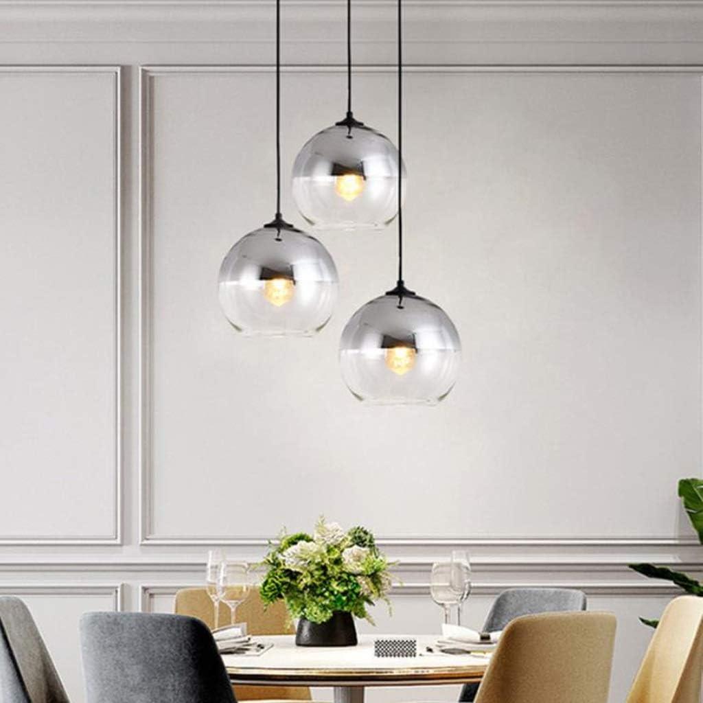 Camera da Letto Soggiorno 3 luci Lampadario Cucina Appeso Lampada a soffitto Apparecchio di Illuminazione con Luce Ombra di Vetro Dsrgwe Lampadario Soggiorno Size : 3 Light