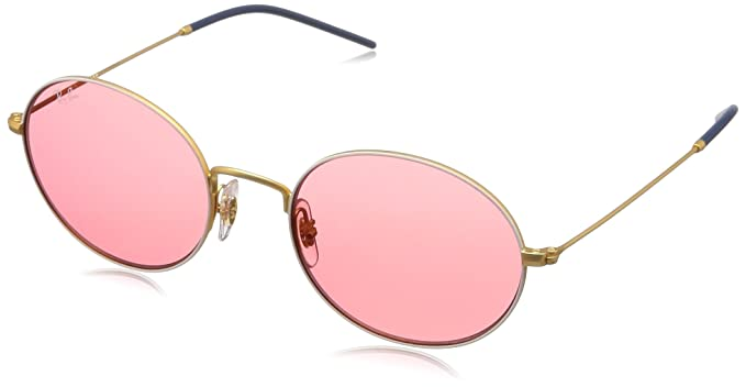 9c5f9e7f7 Image Unavailable. Image not available for. Colour: RAYBAN Unisex's 0RB3594  9093C8 53 Sunglasses, Gold On Top White/Pink Mirror Red