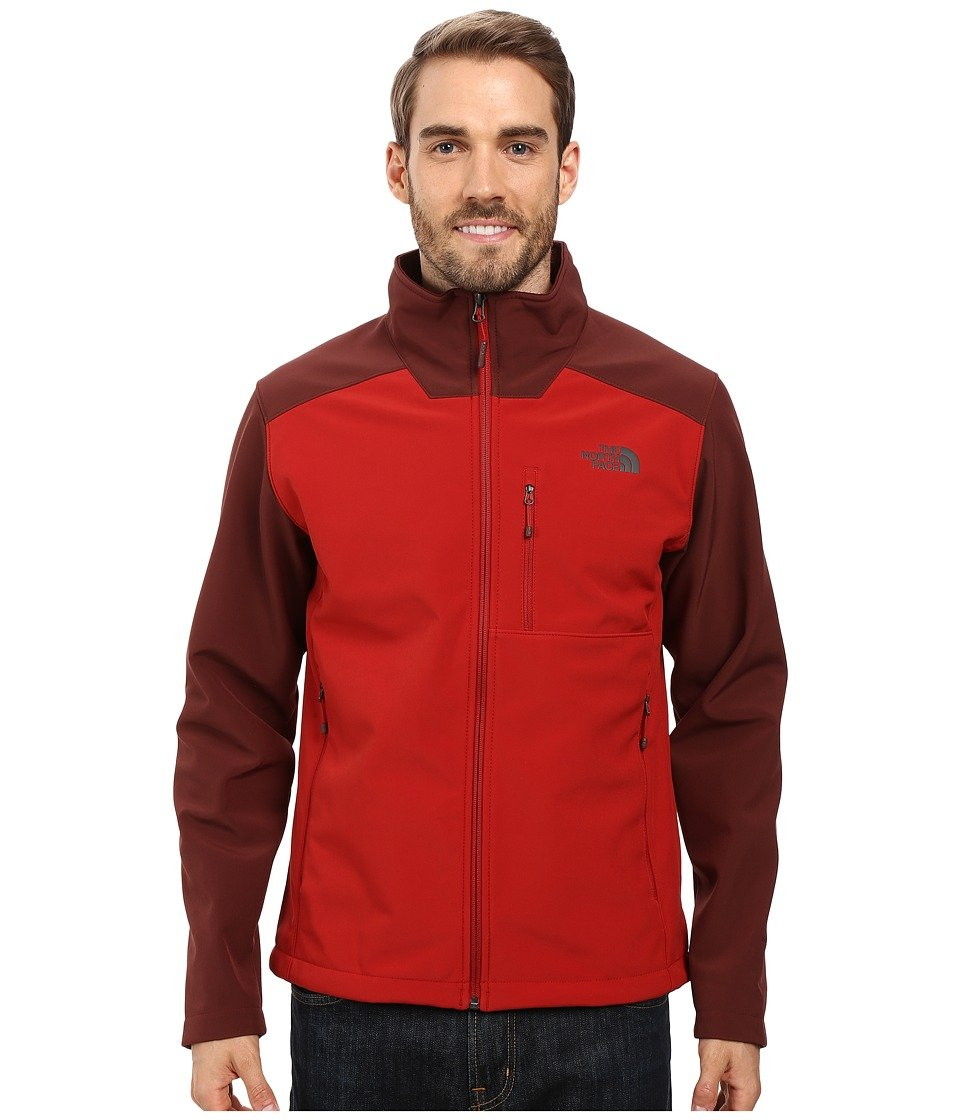 The North Face Apex Bionic Soft Shell Jacket – Men 's B01AHT8ESS Cardinal Red/Sequoia Red Medium