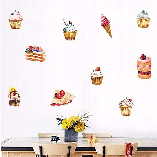 Pastel de taza de helado Diy pegatinas de pared Pvc ...