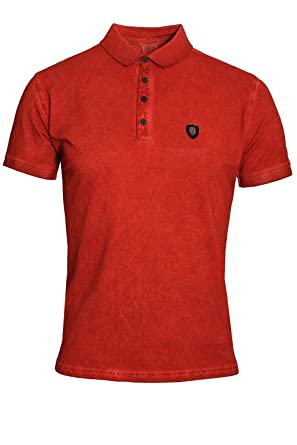 883 Police Deangelo Bossa Red Polo Shirt Large [4] 40