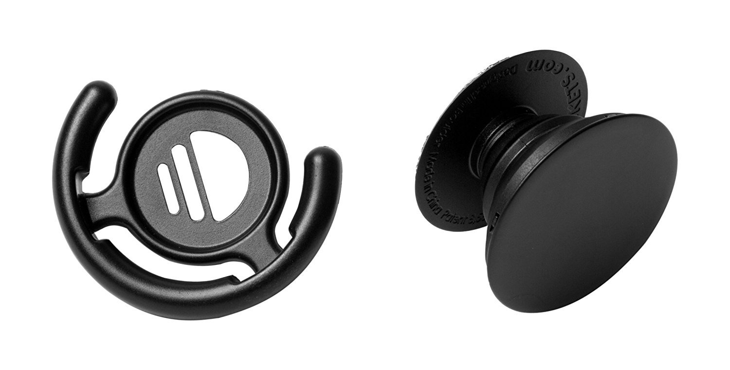 PopSockets Stand for Smartphones and Tablets - Black and Mount