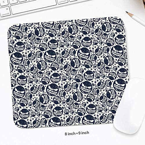 Cool Halloween Bomb Mouse Pad Natural Rubber Excellent Cloth Mousepad Stable No Slip Easy to Clean Office Home Computer Laptop Comfortable Rectangle Gaming 200X225 MM Mouse Mat -
