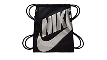Nike BA6004 2018 Bolsa de cuerdas para el gimnasio 45 cm, Negro/Plata
