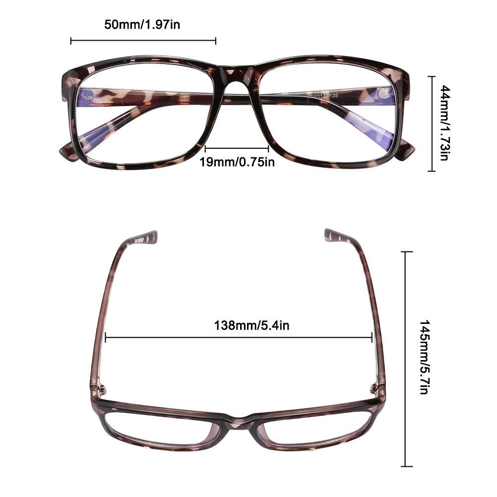 Mimiga Occhiali per Occhiali con Filtro a Luce Blu Occhiali UV per Mal di Testa Occhi Affaticamento Occhiali da Gioco per PC TV Tablet Occhiali per Computer con Lenti Trasparenti per Uomo Donna