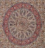 Kalamkari Block Print 100% Cotton Curtain-Drape-Panel-46″x 88″ For Sale