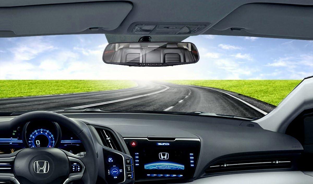 ihreesy Dual Lens Full HD 1080P Large Rear View Mirror 4.3 Display Screen 4.3 Display Screen IHR0000001B Night Vision Car Camera with G-Sensor