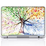 Meffort Inc Personalized Laptop Notebook Notebook Skin Sticker Cover Art Decal, Customize Your Name (12 Inch, Four Seasons Tree)