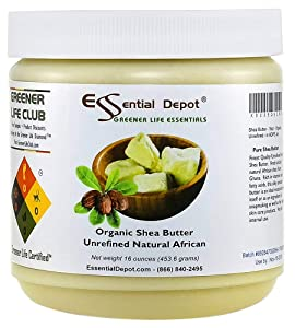 Shea Butter - Grade A - 16 oz - 1 lb - Organic - Unrefined - in resealable Safety Sealed HDPE Jar