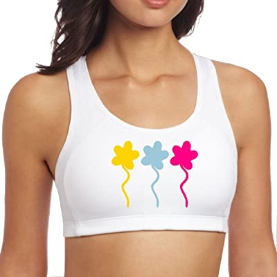 BAIYUNN Three Flowers-Vector Design Women's Racerback Yoga Sports Bra
