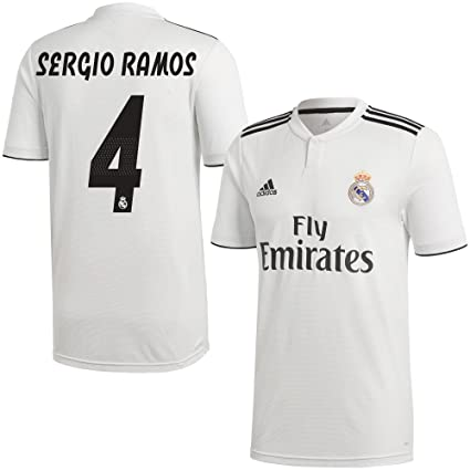 newest 8b5d3 64e2c Amazon.com : adidas Real Madrid Home Sergio Ramos 4 Jersey ...