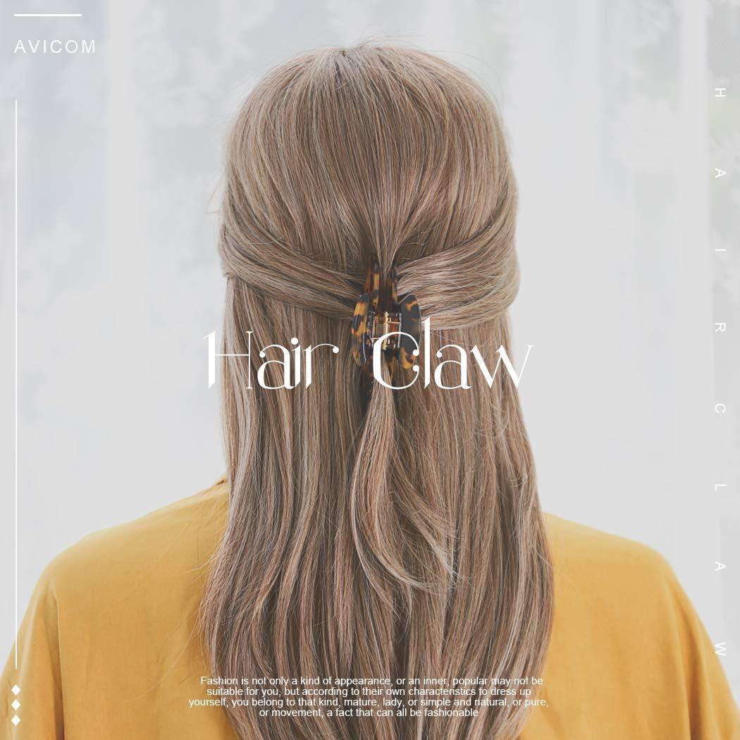 Milieu 2PCS Pince à Cheveux Clips écaille de tortue celluloïd Handmade Cheveux Pinces Non