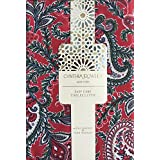 Cynthia Rowley Easy Care Fabric Holiday Tablecloth Christmas Floral Paisley Pattern Red Green Cream with Gray Highlights - Pixie Paisley - 60 inches by 84 inches