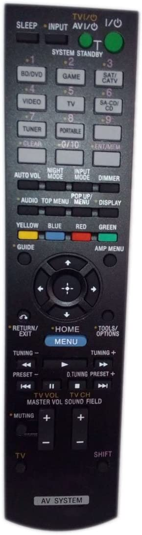 Replaced Remote Control Compatible for Sony STRDH520 RM-AAU104 1-489-343-11 RMAAU105 Audio/Video AV Receiver Home Theater System