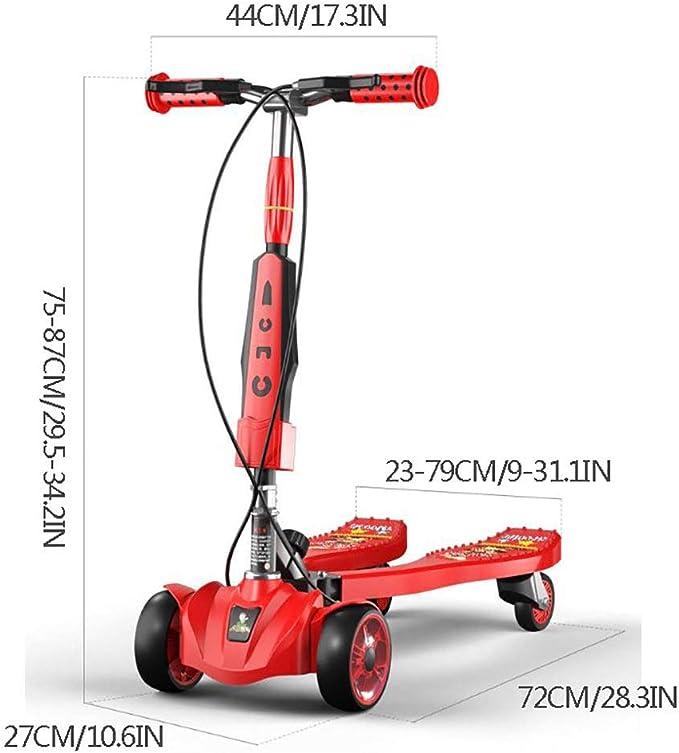 Amazon.com: CHHMAELOVE Patinete de tres ruedas para niños ...