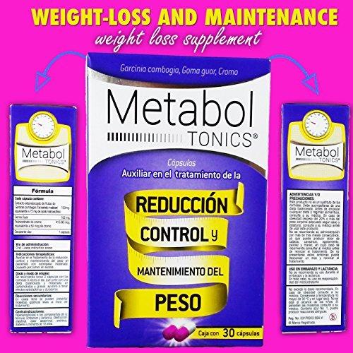 Nuevo Metabol Tonics Control De Peso/ Weight Loss Control Garcinia Cambogia Caja Con 30 Capsulas