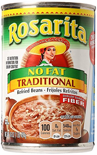 Rosarita Refried Beans, Traditional, No Fat, 16 oz