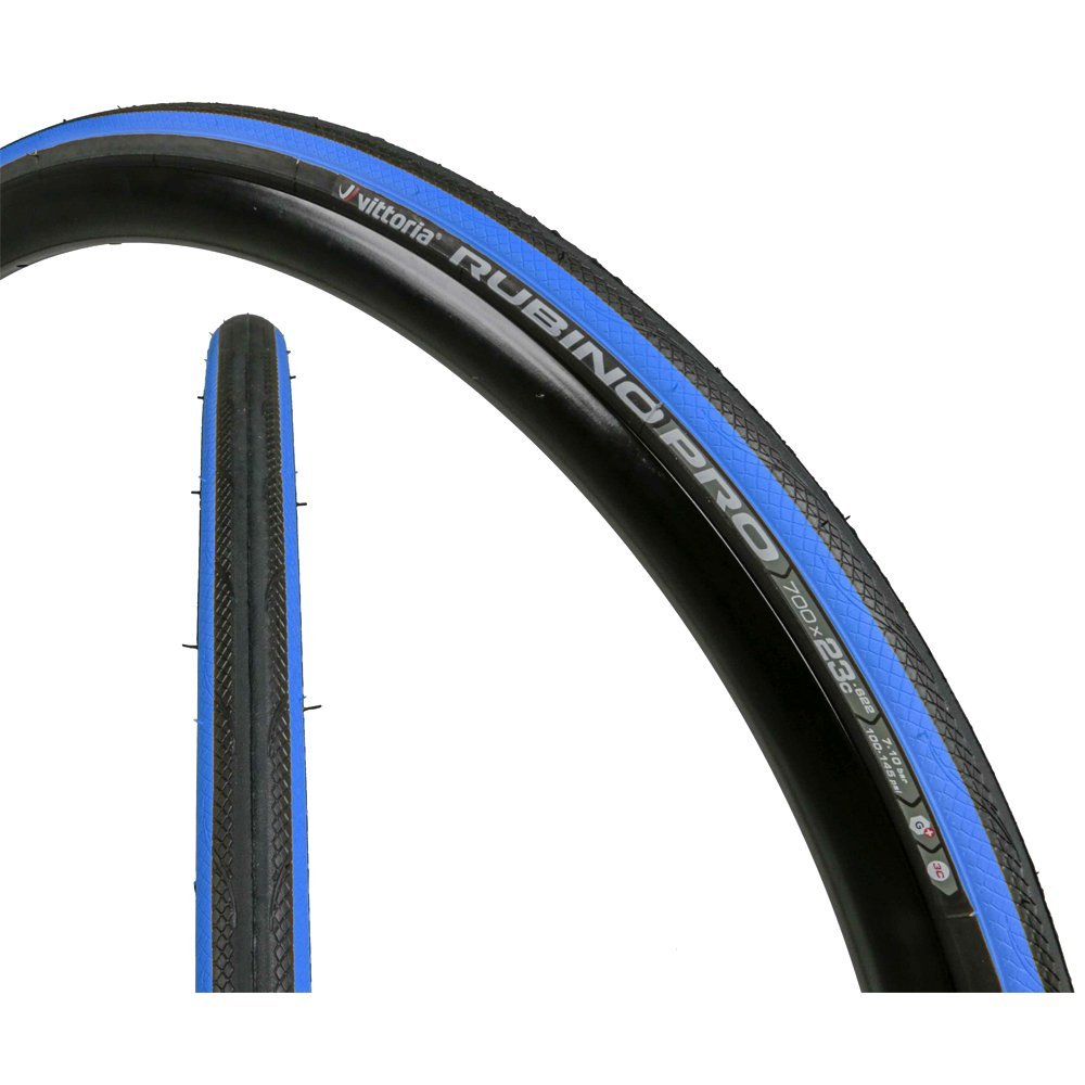 Vittoria Rubino Pro G+ Bike Tires, Blue/Black/Blue, 700cmx19/25