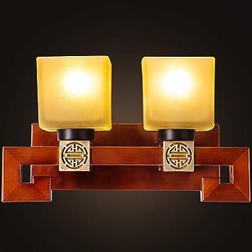 YNG Chinesische Moderne Minimalistische Holz Wandleuchte ...