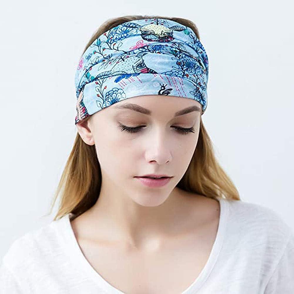 El/ástica y multifuncional Cinta deportiva Resistente a la radiaci/ón UV Sin costuras Apta como pa/ñuelo y braga de cuello