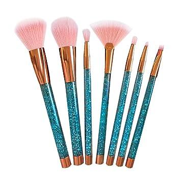 Aquarius Cosmic MakeUp Brush Set Liquid Glitter Handle Foundation Powder Eyeshadow & MultiPurpose Soft Bristles Professional
