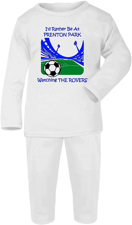 Hat-Trick Designs Tranmere Rovers Football Baby Pyjamas set PJs Nightwear/Sleepwear-I'd Rather Be-Unisex Gift