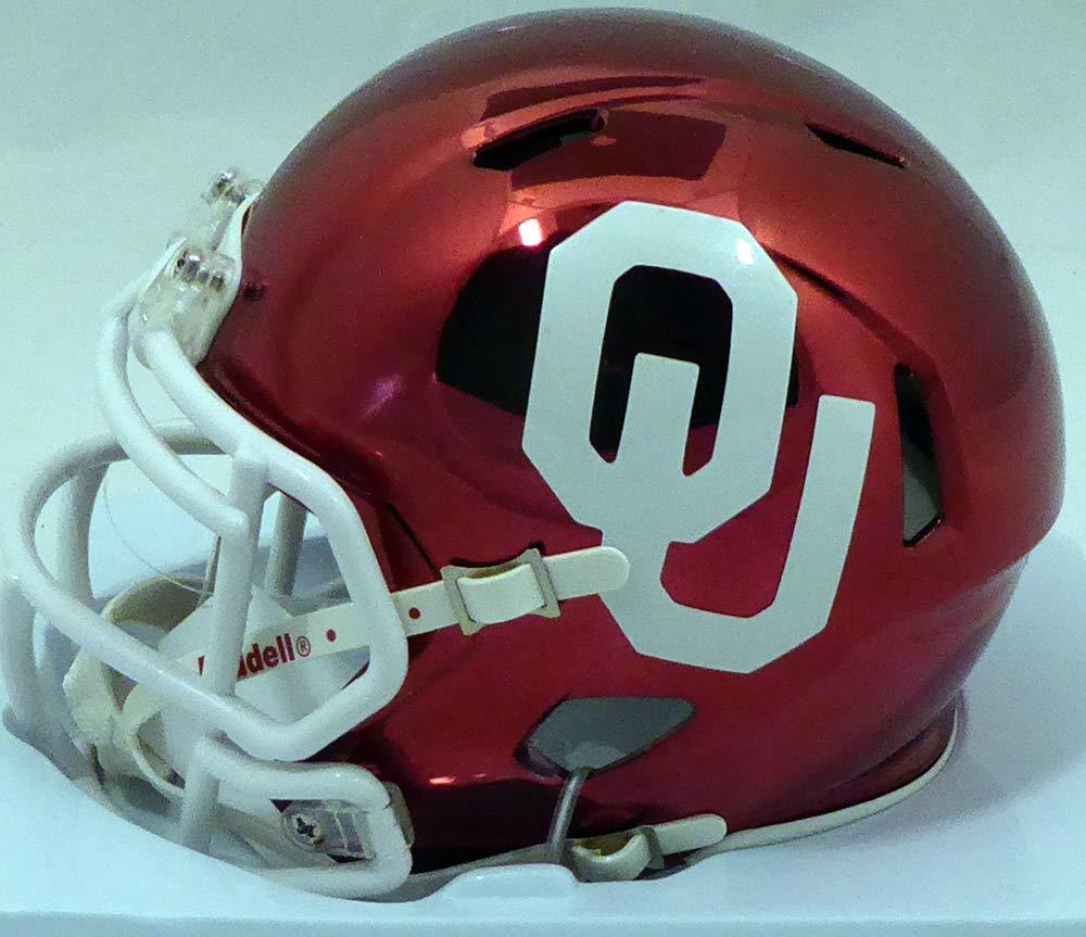 Kyler Murray Autographed Oklahoma Sooners Chrome Red Speed Mini Helmet Beckett BAS