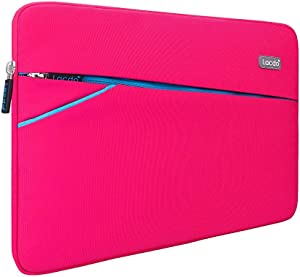 "Lacdo 13.3 inch Laptop Sleeve Case Computer Bag for Old 13 inch MacBook Air 2010-2017 / Old 13-inch MacBook Pro 2012-2015/13.5"" Surface Book 3 2 / Asus Zenbook, HP Dell Acer Lenovo Chrombook, Pink"
