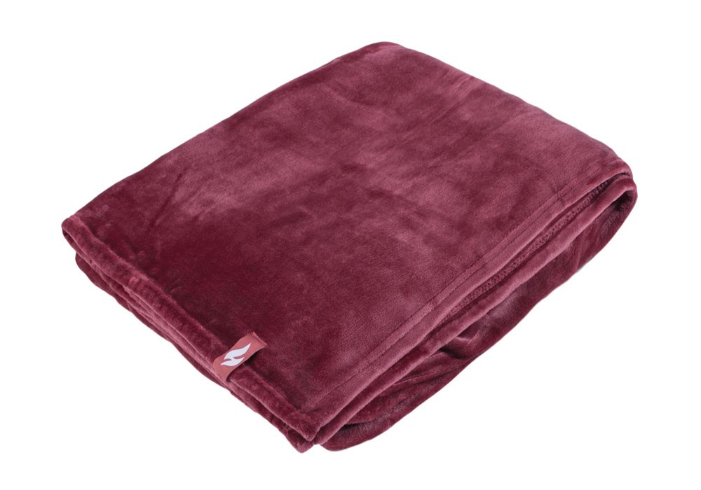 Heat Holders - Extra Soft Winter Warm 1.7 TOG Large Luxury Thermal Fleece Throw Blanket - 180 x 200 cm (Black) Indosox