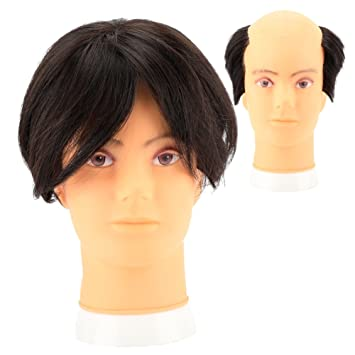 LYTMF Men s Human Hair Wigs Toupee For Men Short Wigs 100% 2  3.5 quot  95079ee6632d