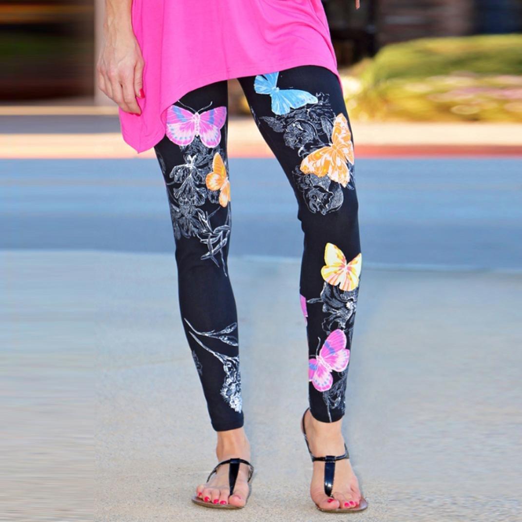 Feixiang Sexy Pantalones elásticos con Estampado de Mariposa Flaca elástica Yoga Pantalones Deportivos Polainas: Amazon.es: Deportes y aire libre