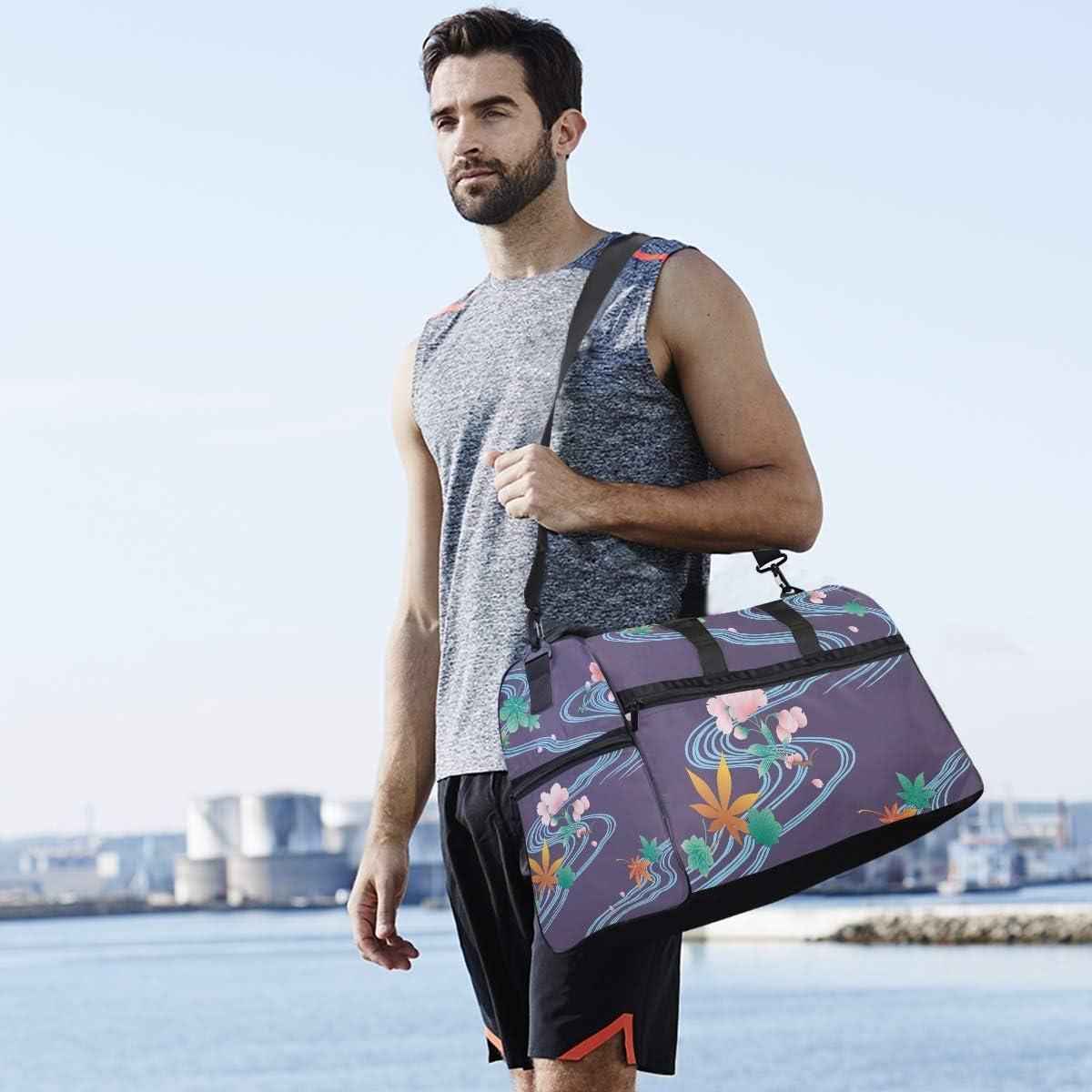 Travel Duffels Small Pond Duffle Bag Luggage Sports Gym for Women /& Men