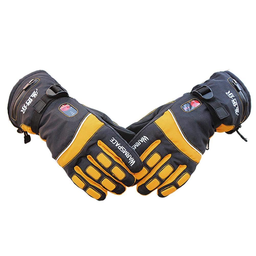 Ausomely Elektrisch Beheizte Handschuhe Beheizt Temperaturkontrolle Wiederaufladbare Wasserdichte Handschuhe Winter Outdoor Sports Handschuhe Handwärmer für Unisex Wandern Klettern Skifahren