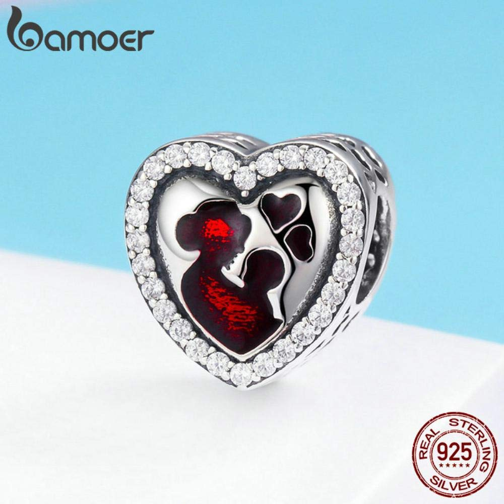 TomTomPro 100/% 925 Sterling Silver Great Mothers Love Heart Engrave Charm Beads fit Bracelet /& Necklace Jewelry Mother Gift