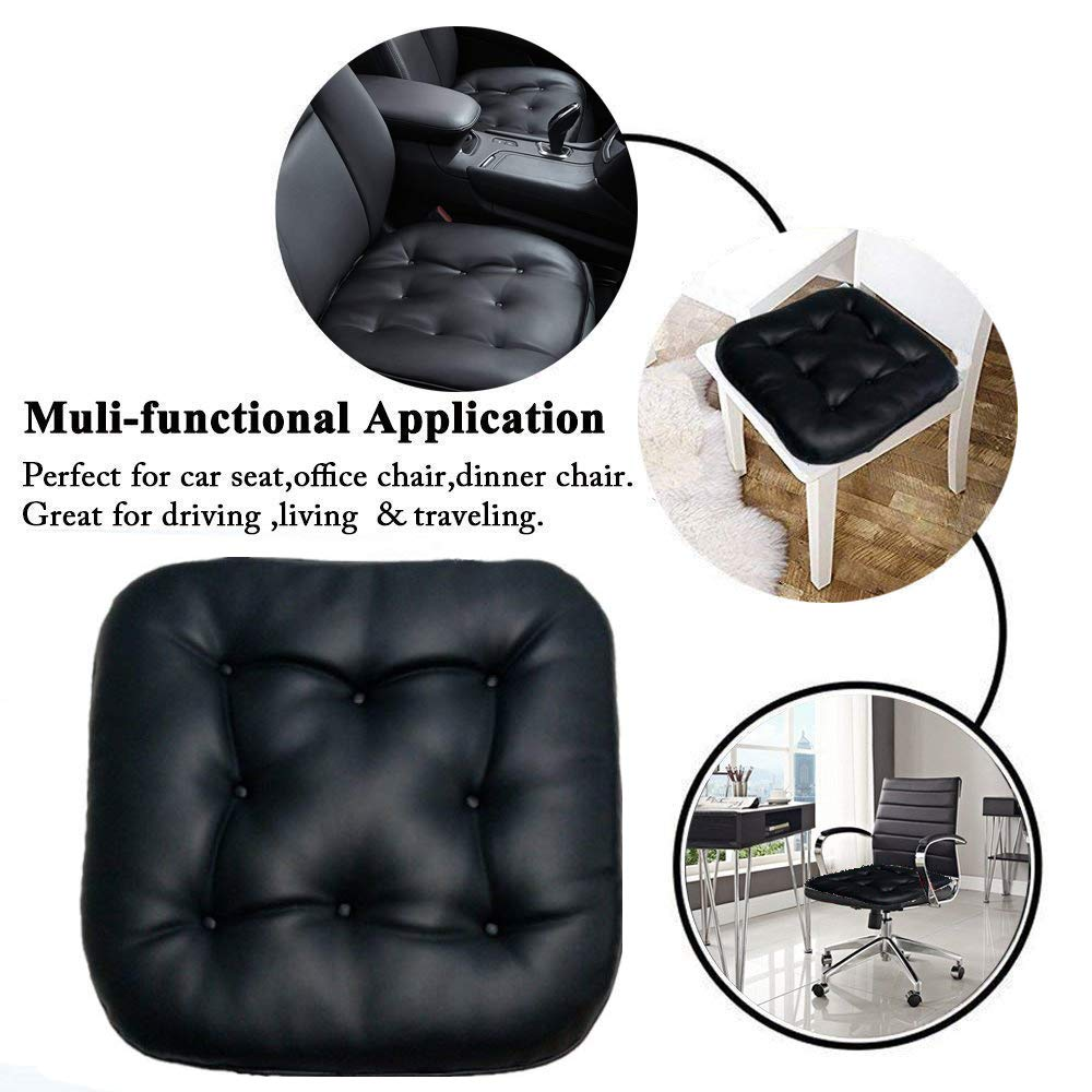 Black Soft Car Seat Cushion 1 PC Comfortable Car Seat Covers Universal Car Cushion Pad Car Seat Pad